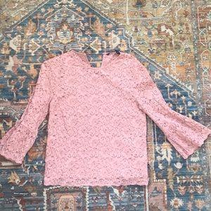 Zara Pink Lace Blouse